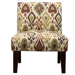 Deku Maple Earth Tone Ikat Slipper Chair
