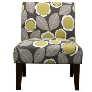 Modernista Grey and Citrine Leaf Pattern Slipper Chair