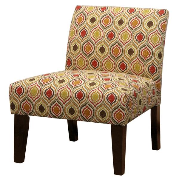 Tatica Earthstone Orange Geometric Slipper Chair