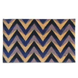 Purple Chevron Coir Doormat