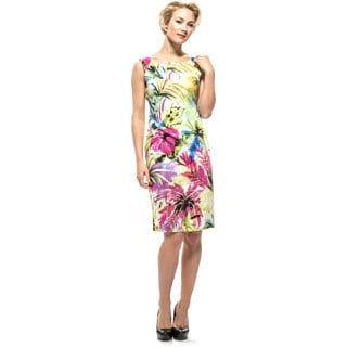 Amelia Women's Floral Cotton Sateen Sundress