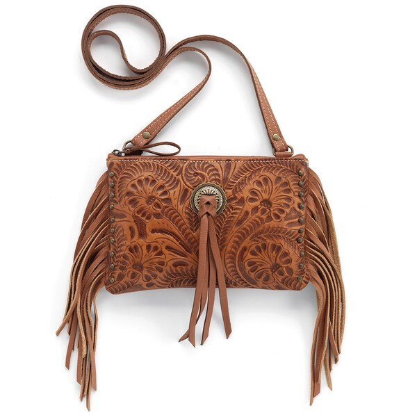 American West Honky Tonk 7115518 Fringe Crossbody Bag