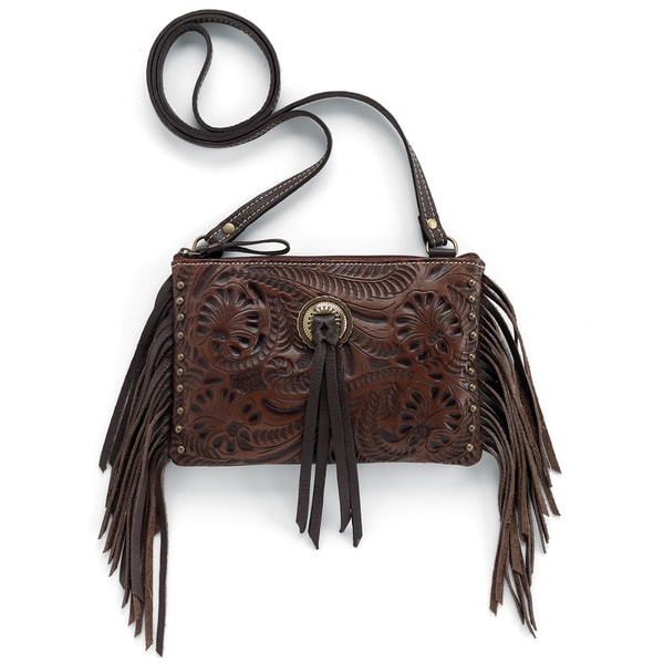 American West Honky Tonk 7185518 Fringed Crossbody Bag