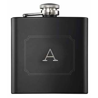 Visol Raven Personalized Flask with Initial Engraved