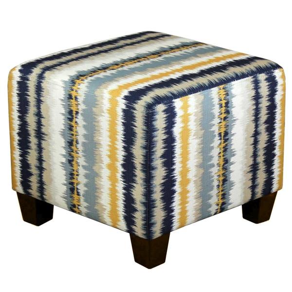 Upwards Mineral Blue Tye Dye Ottoman