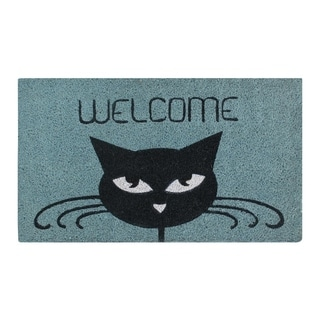 "Welcome Cat Coir Door Mat (18"" x 30"")"
