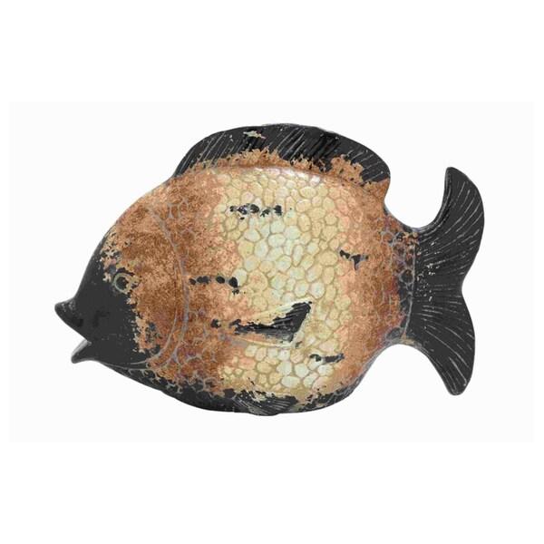Weathered Finish Ceramic Fish