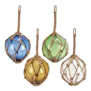 Glass Floating Orb with Rope (Assortment of 4)