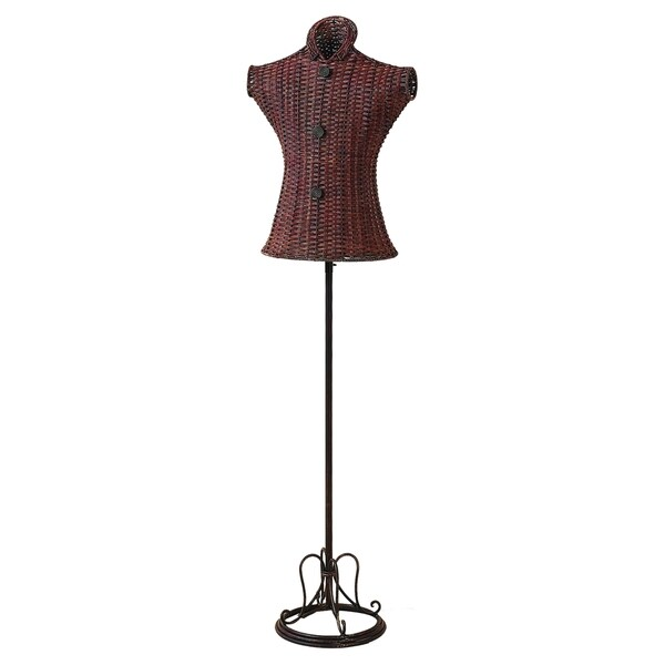 Metal Wicker Mannequin Stand