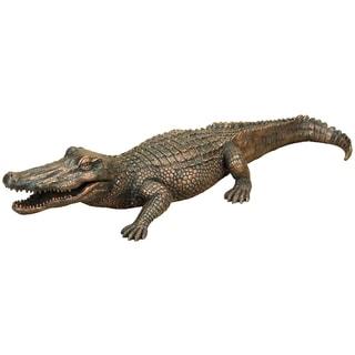 Polystone 13-inch Alligator Sculpture
