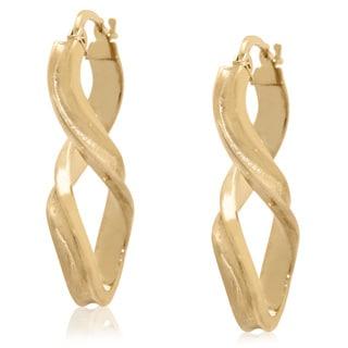 Gioelli 14k Yellow Gold Infinity Twisted Dangle Earrings