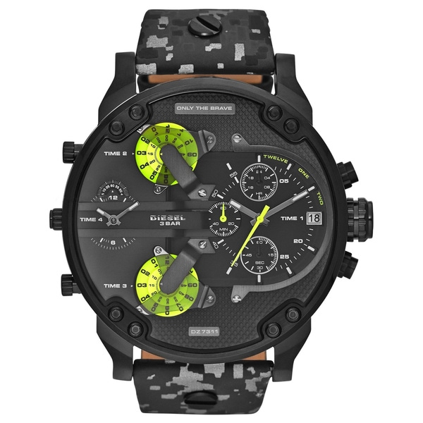 Diesel DZ7311 Mens SBA Mr. Daddy 2.0 Black Camo Watch