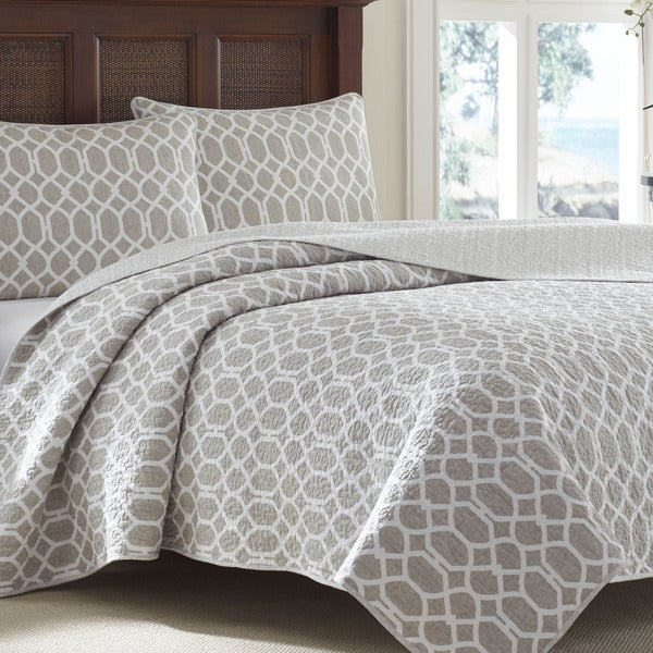 Tommy Bahama Catalina Trellis Grey Reversible 3 Piece