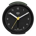 Braun Classic Quiet German Precision Quartz Black Round Alarm Clock