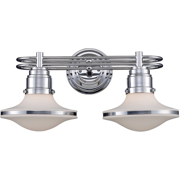 Chrome 2-light Bath Bar Fixture