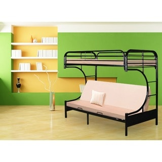 Powell C-Style Black Metal Futon Bunk Bed