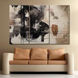 'Inkd XXIX' 3-Piece Wrapped Canvas Wall Art Set