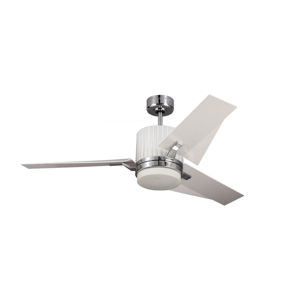 Monte Carlo Ken Chrome Finish with White ABS Blades 52-inch Ceiling Fan