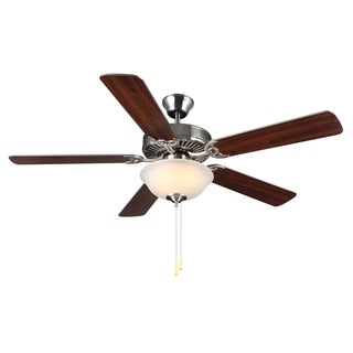 Monte Carlo HomeBuilder II Brushed Steel 52-inch Ceiling Fan