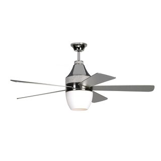 Monte Carlo Nikki Polished Nickel 52-inch Ceiling Fan