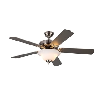 Homeowner II Brushed Steel 52-inch Ceiling Fan