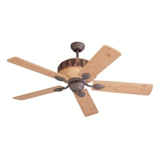 Monte Carlo Great Lodge Weathered Iron / Lodge Pine 52-inch Ceiling Fan