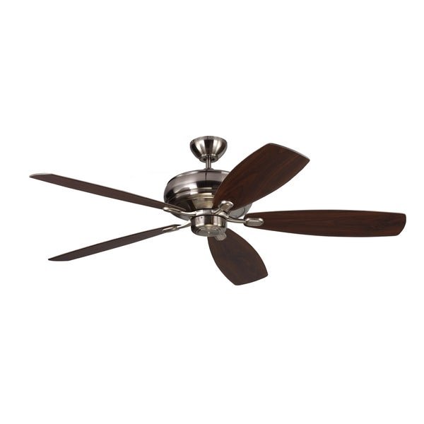 Monte Carlo Embassy Max Brushed Steel 60-inch Ceiling Fan