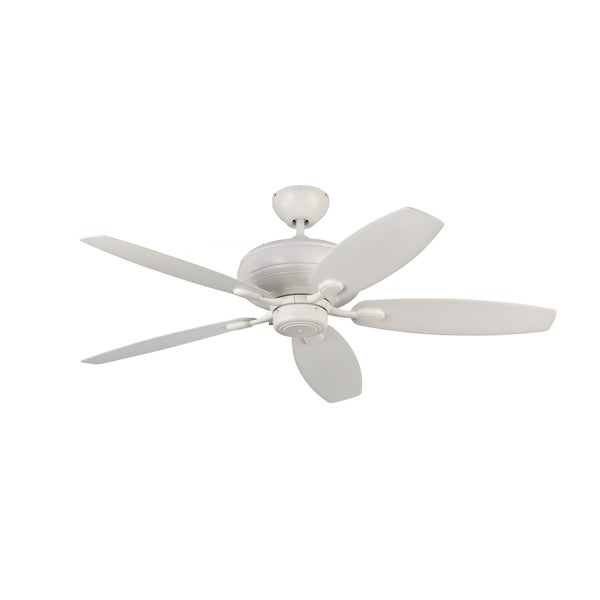 Monte Carlo Centro Max Rubberized White 52-inch Ceiling Fan