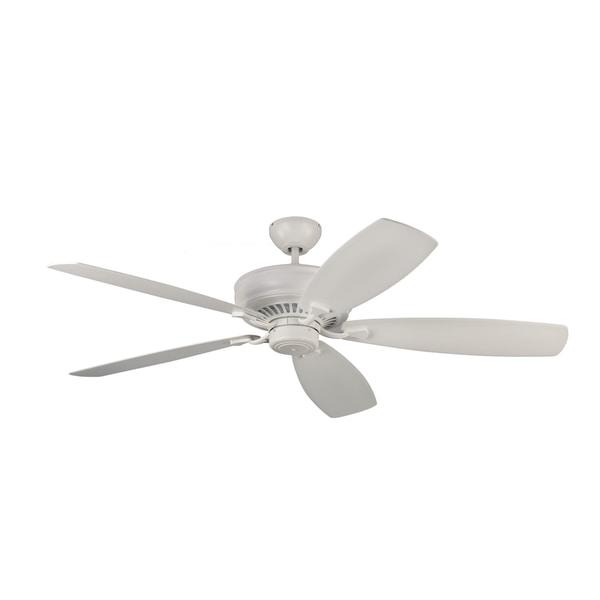 Monte Carlo Bonneville Max Rubberized White 60-inch Ceiling Fan