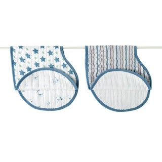 Aden and Anais Prince Charming Star and Stripe Classic Burpy Bibs