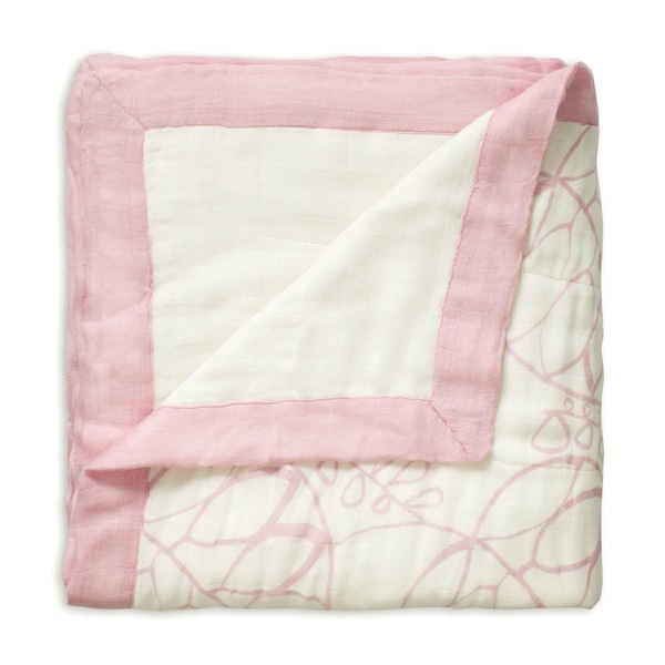 Aden and Anais Tranquility Leafy White Bamboo Dream Blanket