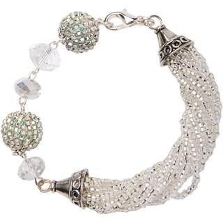 Bemos Sparkle Beaded Bracelet with Pewter Charms (Guatemala)