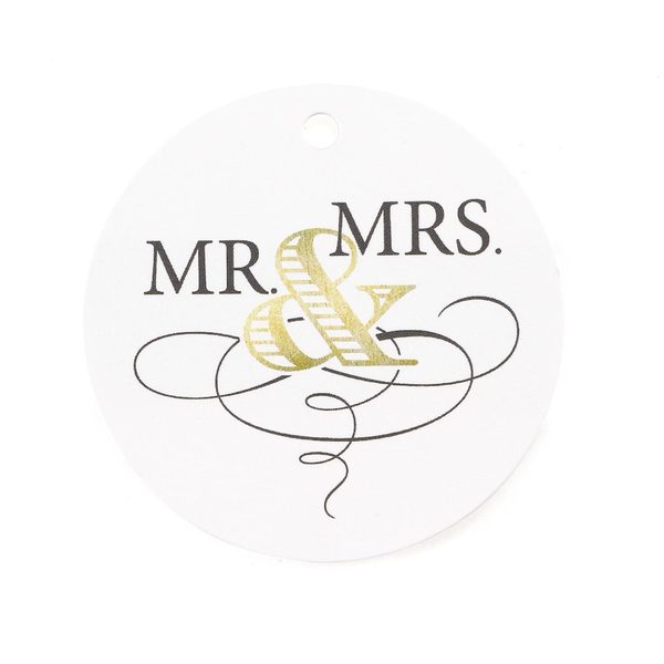 Golden Elegance Favor Tags (24)