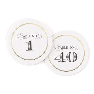 Golden Elegance Table Numbers (1-40)