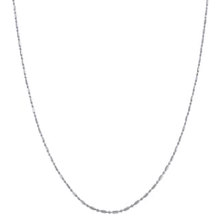 Italian Sterling Silver Bead 1+1 Chain Necklace
