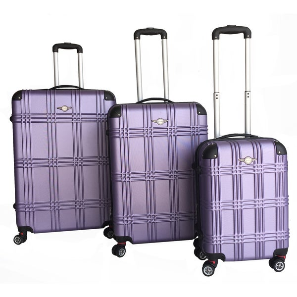 RivoLite Capri 3-piece Lightweight Hardside Expandable Spinner Luggage Set