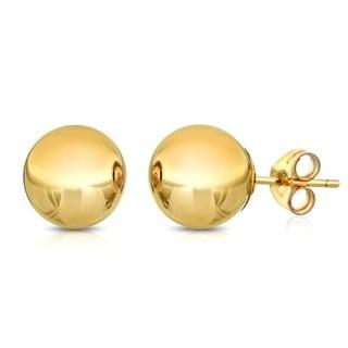 Pori 14k Goldplated Sterling Silver 8mm Ball Stud Earrings
