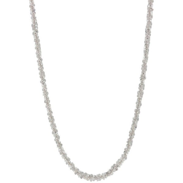 Italian Sterling Silver Twisted Roc Chain Necklace