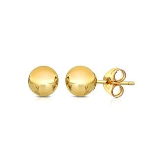 Pori 14k Goldplated Sterling Silver 3mm Ball Stud Earrings