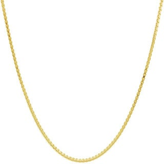 Pori Italian 14k Goldplated Sterling Silver Box Chain Necklace