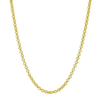 Italian 14k Goldplated Sterling Silver Cable Chain Necklace