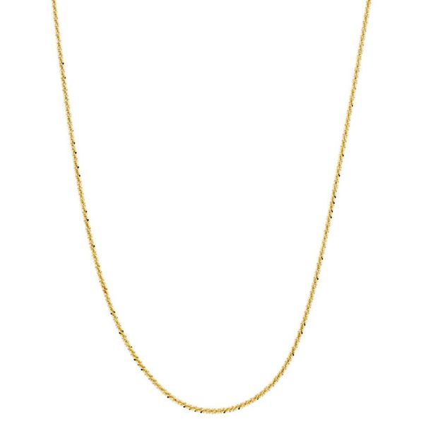 14k Goldplated Sterling Silver Italian Twisted Roc Chain Necklace