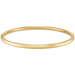14k Yellow Gold 7mm Polished Slip-on Bangle