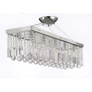 Contemporary 10-light Crystal Modern Linear Chandelier Pendant Light Fixture