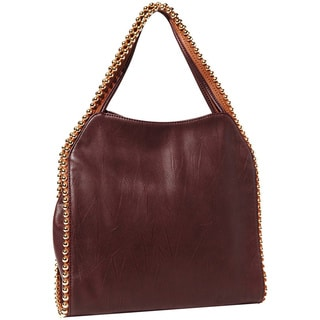 Big Buddha Grayson Merlot Top Zip Hobo Bag