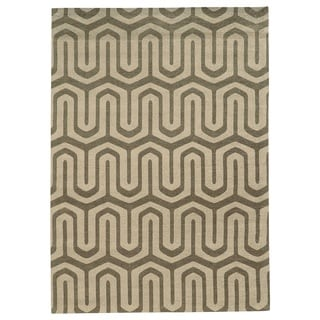 Bombay Outlet Chenille Tapis Maze Grey Rug (5' x 7')