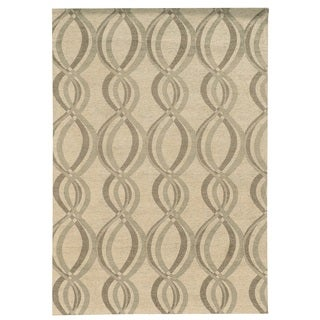 Bombay Outlet Chenille Tapis Infinite Ivory Rug (8' x 10')