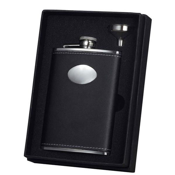 Visol Eclipse Z Black Leather Essential II Flask Gift Set