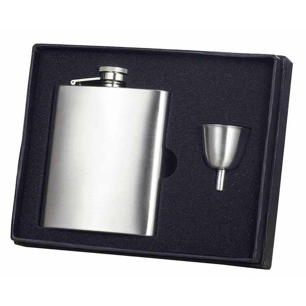 Visol Derek Satin Finish Flask Gift Set