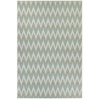 Monaco Avila/ Blue Mist Ivory Area Rug (8'6 X 13')